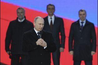 Le premier anniversaire de l'annexion de la Crimée a été fêté à Moscou avec Vladimir Poutine
