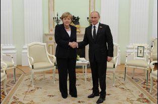 Merkel et Poutine, une entrevue au sommet