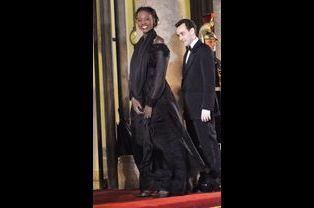 Rama Yade et Joseph Zimet à l'Elysée en mars 2008