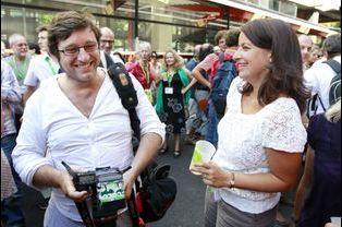 Xavier Cantat et Cécile Duflot en août 2011