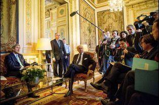 Laurent Fabius et John Kerry à Paris pour les célébrations de l'armistice