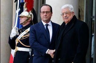 François Hollande et Mahmoud Abbas