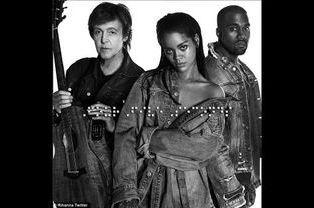 Rihanna, avec Paul McCartney et Kanye West, ne quitte plus sa veste en denim Matt Dolan.