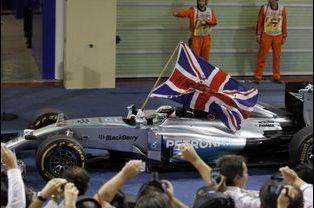 Après la course, le triomphe de Lewis Hamilton