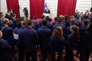 Discours de François Hollande devant les athlètes français à l'Elysée