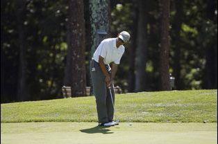 Partie de golf pour Barack Obama