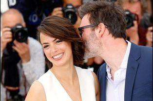 Avec Michel Hazavicius, l'amour de sa vie, au Festival de Cannes 2014