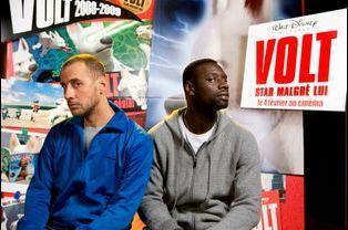 """Omar et Fred prêtent leur voix à """"Volt"""", 2008"""