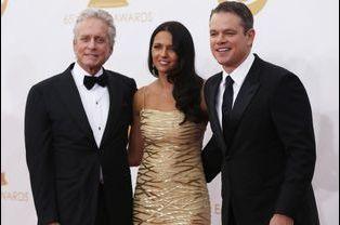 Michael Douglas, Matt Damon et Luciana Barroso