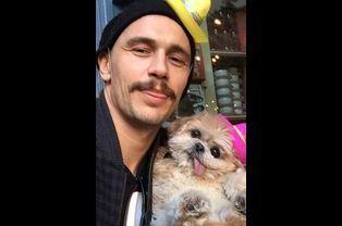 James Franco promet qu'il n'a bu que du café avec Marnie le chien