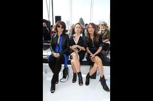 Juliette Binoche, Suzanne Clément et Keren Ann au premier rang du défilé Maxime Simoëns, en septembre 2014