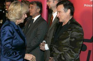 Camilla, la duchesse de Cornouailles, avec Robin Williams