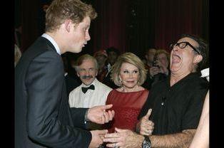 Rires aux éclats pour Robin Williams, avec le prince Harry