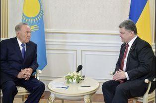 Noursoultan Nazarbaïev et Petro Porochenko