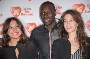 Izia Higelin, Omar Sy et Charlotte Gainsbourg à Paris le 14 octobre 2014