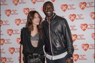 Omar Sy et Charlotte Gainsbourg à Paris le 14 octobre 2014