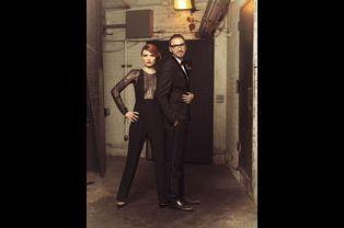 Elodie Frégé et Christophe Willem dans les coulisses du Beacon Theatre.