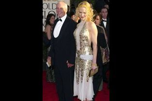 Nicole Kidman et son père au 61e Annual Golden Globe Awards à Los Angeles, le 25 janvier 2004.