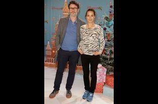 Bérénice Bejo et Michel Hazanavicius au lancement des festivités de Noël à Disneyland Paris, le 16 novembre 2014