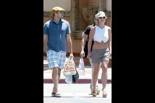 Britney Spears et David Lucado, à Calabasas, le 13 juillet 2014