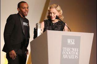 Charles Riley et Madonna à New York le 5 novembre 2014