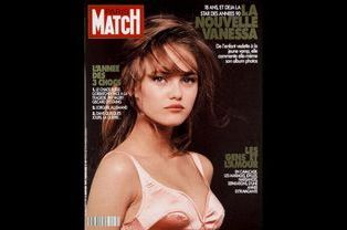 Vanessa Paradis en couverture de Paris Match en janvier 1991