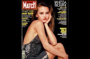 Vanessa Paradis en couverture de Paris Match en mars 1990
