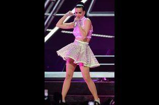 Katy Perry lors d'un concert à New York, juillet 2014