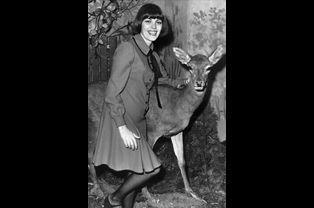 Mireille Mathieu à Salzbourg en Autriche, le 3 mars 1972