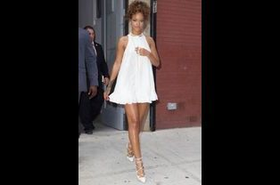 Rihanna au défilé d'Adam Selman à la Fashion Week à New York, le 5 septembre 2014.