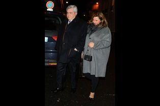 Me Thierry Herzog et sa femme, à Paris le 30 janvier 2015