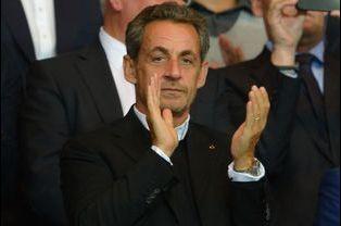 Nicolas Sarkozy au Parc des Princes le 31 août 2014.