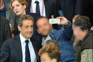Nicolas Sarkozy et Nathalie Kosciusko-Morizet au Parc des Princes à Paris, le 21 septembre 2014.