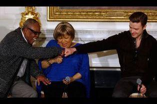 Complicité entre Samuel Moore, Mavis Staples et Justin Timberlake