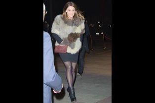 Daniela Lumbroso arrive au 30ème dîner du Crif à Paris, le 23 février 2015
