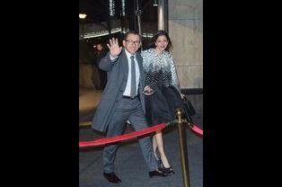 Dany Boon et sa femme Yaël arrivent au 30ème dîner du Crif à Paris, le 23 février 2015