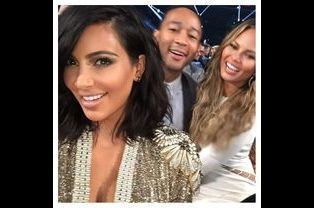 Kim Kardashian, John Legend et Chrissy Teigen