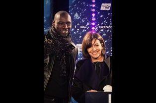 Omar Sy et Anne Hidalgo à Paris le 20 novembre 2014