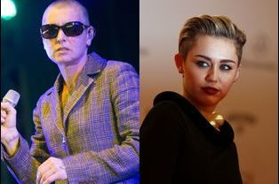Miley Cyrus et Sinead O'Connor