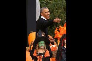 Barack Obama à la Maison Blanche le 31 octobre 2014
