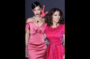 Rihanna et Salma Hayek à Los Angeles le 11 décembre 2014