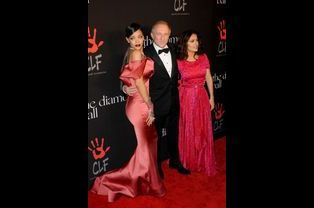 Rihanna, François-Henri Pinault et Salma Hayek à Los Angeles le 11 décembre 2014