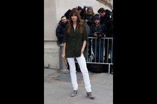 Caroline de Maigret au défilé Chanel Haute-Couture
