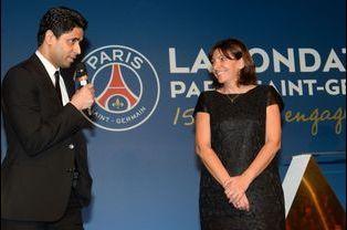 Nasser Al-Khelaifi et Anne Hidalgo au gala de la Fondation PSG