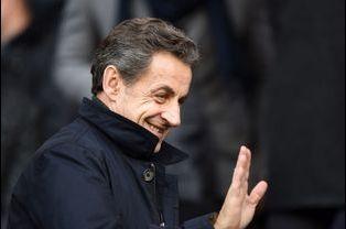 Nicolas Sarkozy au Parc des princes à Paris, le 21 février 2015