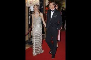 Beatrice Borromeo et Pierre Casiraghi au 61ème bal de la Rose à Monaco, le 28 mars 2015