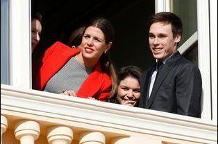 Charlotte Casiraghi, Louis Ducruet et Elisabeth-Anne et Mélanie de Massy à Monaco, le 7 janvier 2015