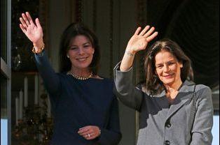 Les princesses Caroline et Stéphanie de Monaco à Monaco, le 7 janvier 2015