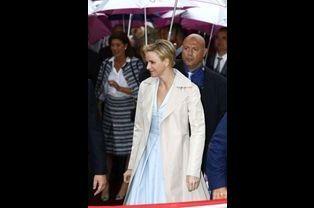 Le 14 juin, Charlène à l'inauguration d'une roseraie à son nom