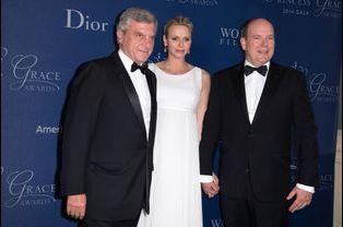 Sidney Toledano, PDG de Christian Dior Couture, avec le couple princier
